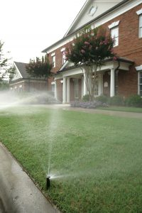 Community Bank with Sprinklers